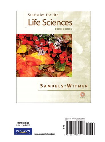 Stats for the Life Sciences, Books a: Myra L. Samuels,
