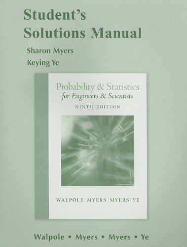 9780321640130: Student Solutions Manual for Probability and Statistics for Engineers and Scientists