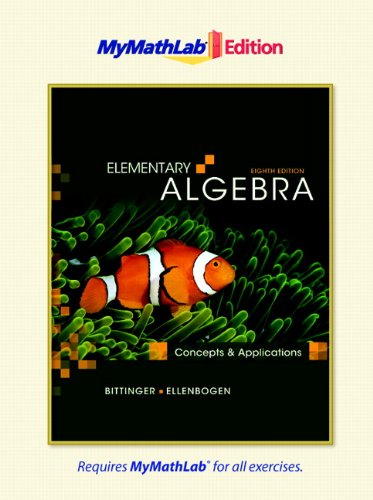 9780321641380: Elementary Algebra: Concepts and Applications, The MyMathLab Edition (8th Edition)
