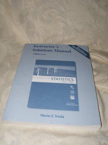 9780321641649: Instructor's Solution Manual Essentials of Statistics