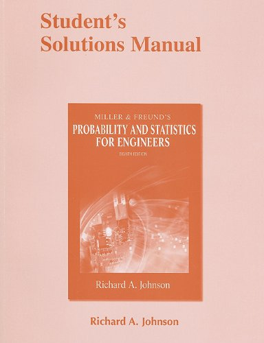 9780321641694: Student Solutions Manual for Miller and Freund's Probability and Statistics for Engineers