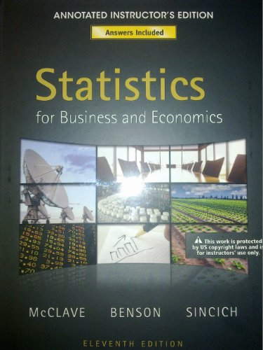 9780321641762: Statistics for Business and Economics (Annotated Instructor's Edition)