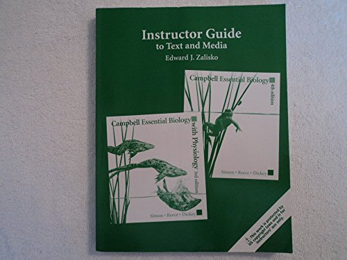 9780321642547: Instructor Guide to Text and Media: Campbell Essential Bilogy: 4th Edition and Campbell Essential Biology with Physiology 3rd Edition