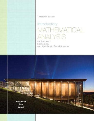 9780321643728: Introductory Mathematical Analysis for Business, Economics, and the Life and Social Sciences (13th Edition)