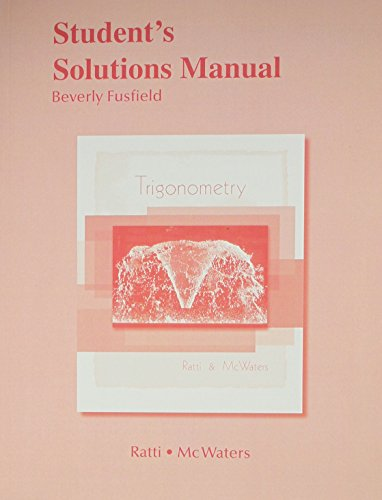 9780321644640: Student Solutions Manual for Trigonometry