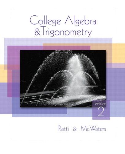 9780321644718: College Algebra and Trigonometry (2nd Edition)