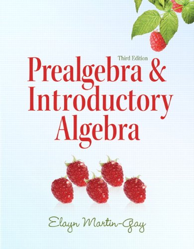 9780321644909: Prealgebra & Introductory Algebra (3rd Edition) (The Martin-Gay Paperback Series)