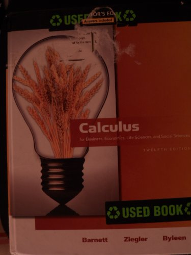 9780321645432: INSTRUCTOR EDITION of Calculus for Business,Life Sciences and Social Sciences (12th edition)