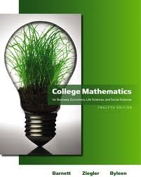 9780321645456: College Mathematics for Business, Economics, Life Sciences and Social Sciences, by Barnett, 12th Edition