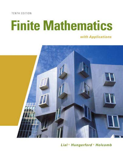 9780321645548: Finite Mathematics with Applications (10th Edition) (Lial/Hungerford/Holcomb)