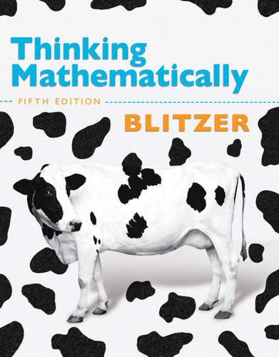 Thinking Mathematically, Fifth Edition: Robert F. Blitzer