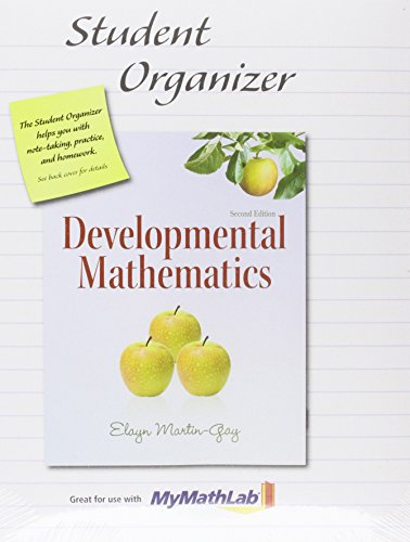 Student Organizer for Developmental Mathematics: Martin-Gay, Elayn