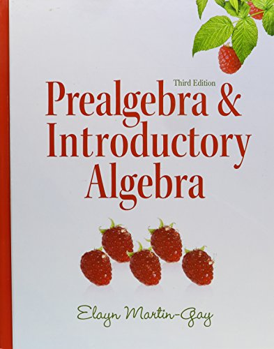 9780321649478: Prealgebra & Introductory Algebra (3rd Edition)