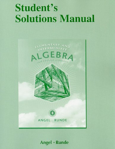 9780321652379: Student Solutions Manual for Elementary & Intermediate Algebra for College Students