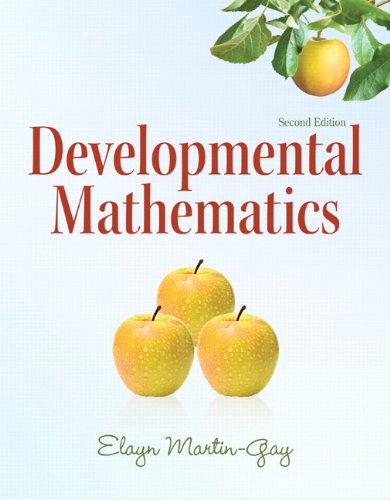 9780321652744: Developmental Mathematics (2nd Edition) (The Martin-Gay Paperback Series)