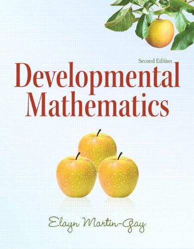 9780321652744: Developmental Mathematics: (2nd Edition) (The Martin-Gay Paperback Series)