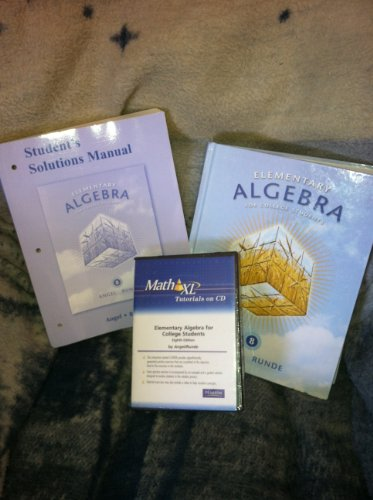 Student's Solutions Manual (Component) for Elementary Algebra: Allen R. Angel