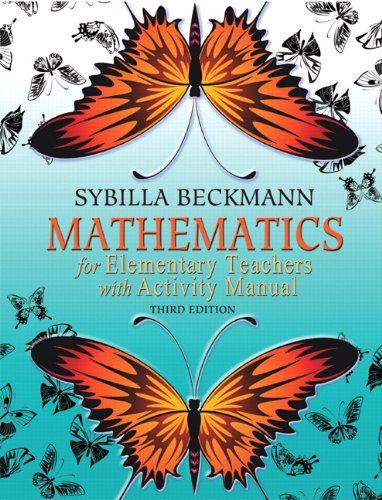 9780321654274: Mathematics for Elementary Teachers with Activity Manual (3rd Edition)
