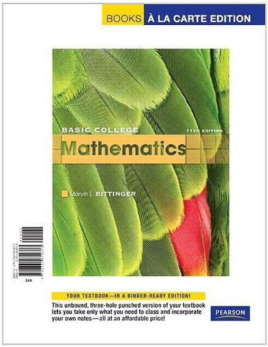 9780321654373: Basic College Mathematics, Books a la Carte Edition (11th Edition)