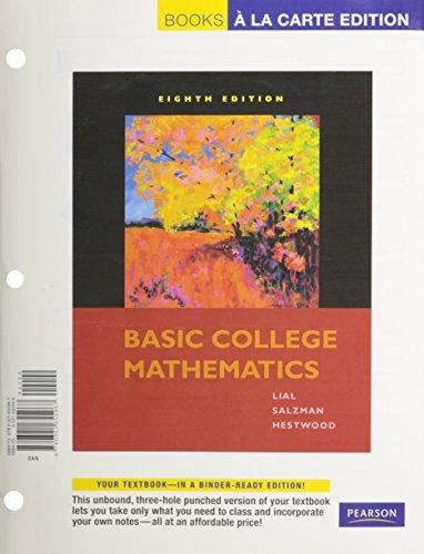 9780321654663: Basic College Math, Books a la Carte Plus MyMathLab/MyStatLab Student Access Kit (8th Edition)