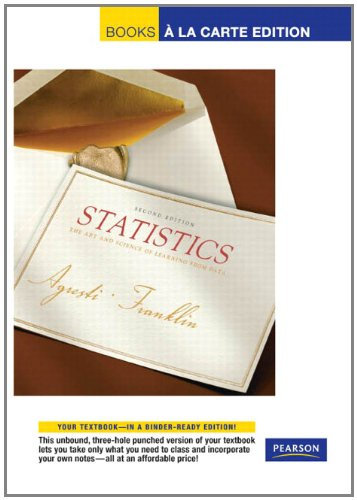 9780321656476: Statistical Methods for the Social Sciences, Books a la Carte Edition (4th Edition)