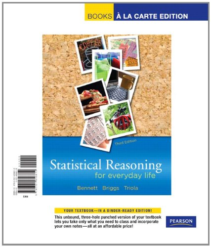 9780321656612: Statistical Reasoning for Everyday Life, Books a la Carte Edition (3rd Edition)