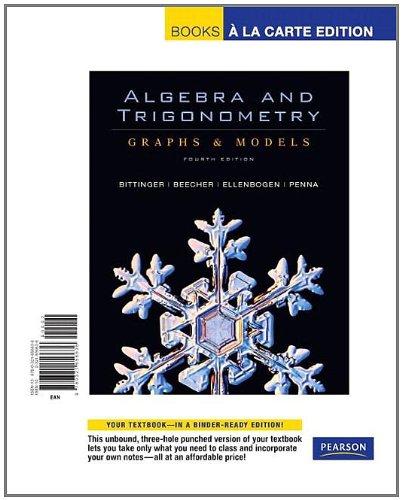 Algebra and Trigonometry: Graphs and Models, Books: Judith A. Penna,
