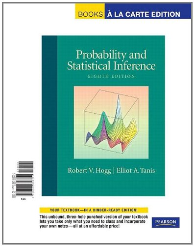 9780321656711: Probability and Statistical Inference, Books a la Carte Edition (8th Edition)