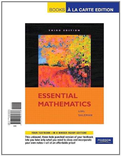 9780321656766: Essential Mathematics, Books a la Carte Edition (3rd Edition)