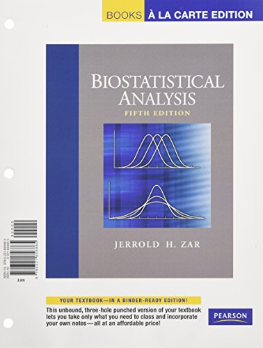 9780321656865: Biostatistical Analysis, Books a la Carte Edition (5th Edition)