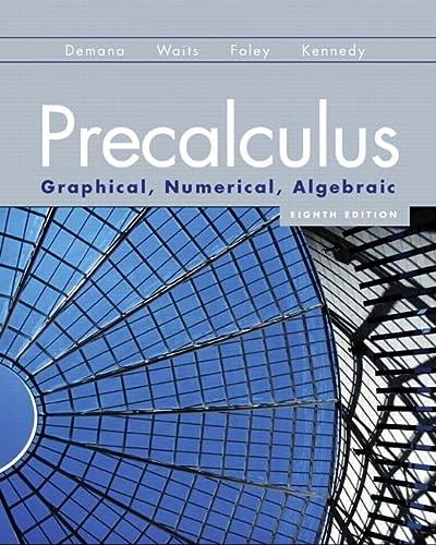 9780321656933: Precalculus: Graphical, Numerical, Algebraic (8th Edition)
