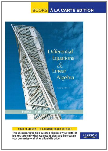 9780321657121: Differential Equations and Linear Algebra, Books a la Carte Edition (2nd Edition)