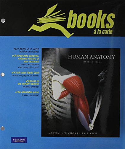 9780321660787 Human Anatomy Books A La Carte Plus Martini Study