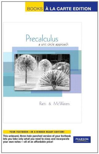 9780321663559: Precalculus: A Unit Circle Approach, Books a la Carte Edition