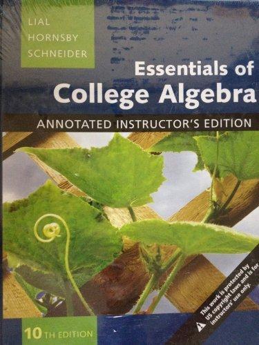 9780321664273: Essentials Of College Algebra (Annotated Instructors Edition)