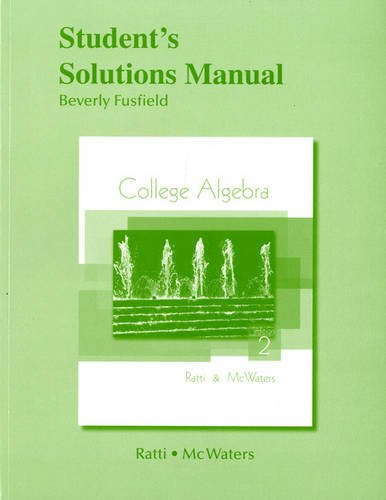 9780321664716: Student Solutions Manual for College Algebra