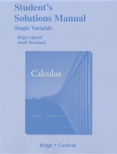 9780321665218: Student Solutions Manual, Single Variable for Calculus