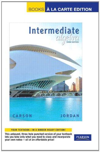 9780321665515: Intermediate Algebra, Books a la Carte Edition (3rd Edition)