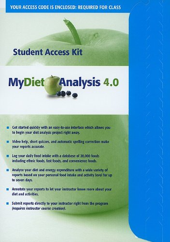 9780321668141: MyDietAnalysis 4.0 Student Access Code Card