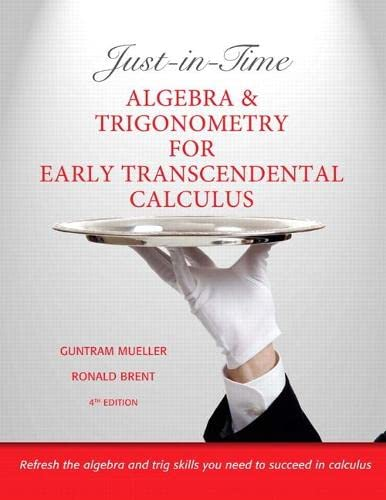 9780321671035: Just-in-Time Algebra and Trigonometry for Early Transcendentals Calculus (4th Edition)