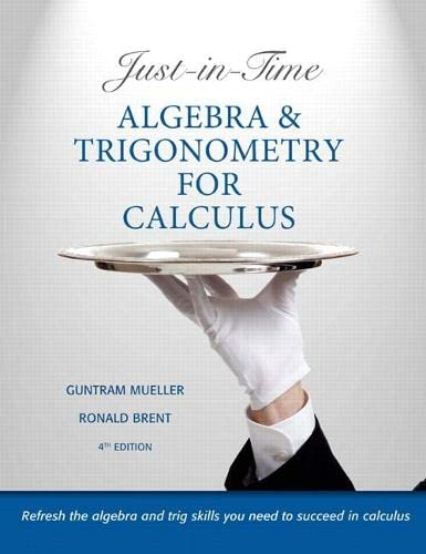 9780321671042: Just-in-Time Algebra and Trigonometry for Calculus (4th Edition)