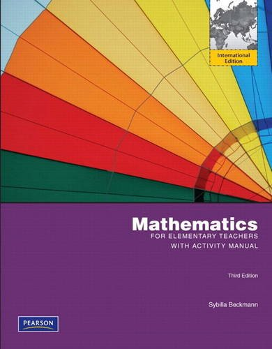 9780321675668: Mathematics for Elementary Teachers with Activity Manual