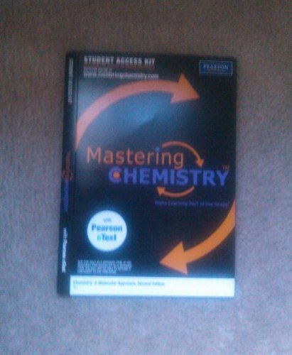 9780321676313: Mastering Chemistry for Chemistry: A Molecular Approach, 2nd Edition