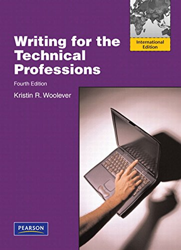 9780321680105: Writing for the Technical Professions: International Edition