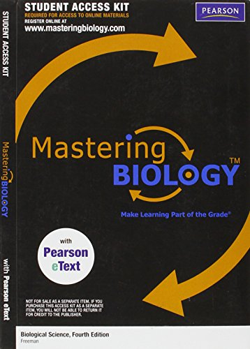 MasteringBiology with Pearson eText (Biological Science 4th: Various