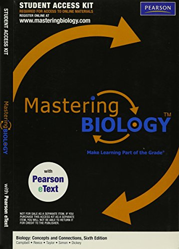 MasteringBiology with Pearson EText Student Access Kit for Biology: Concepts and Connections (ME ...