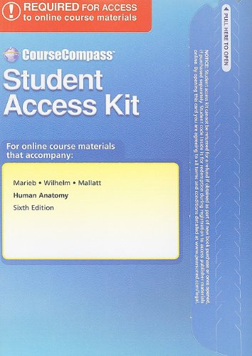 9780321683144: CourseCompass Student Access Kit for Human Anatomy (6th Edition)
