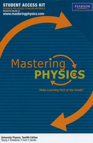 9780321683557: MasteringPhysics Student Access Kit for University Physics (Mastering Physics (Access Codes))
