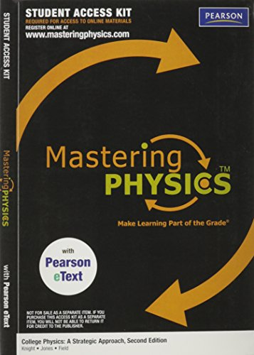 MasteringPhysics (TM) with Pearson eText Student Access: Knight, Randall D.;