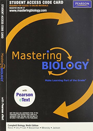 9780321686503: Masteringbiology (R) with Pearson Etext S